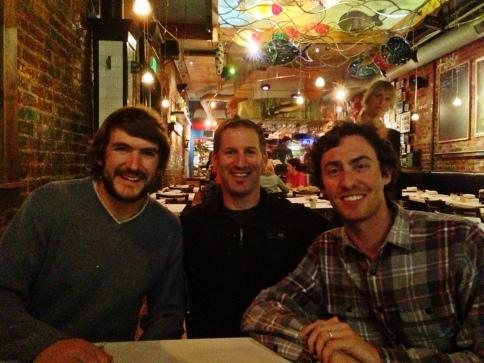 Nate, myself and Natty at dinner last night